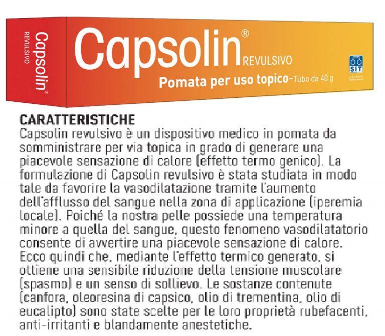 CAPSOLIN REVULSIVO POMATA ALLEVIA DOLORI NEVRALGICI..